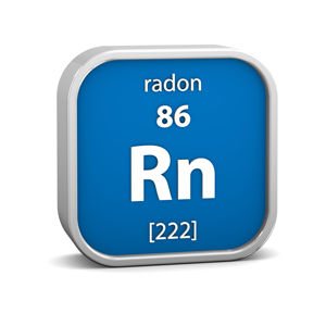 Radon is #86 on Periodic Table of Elements