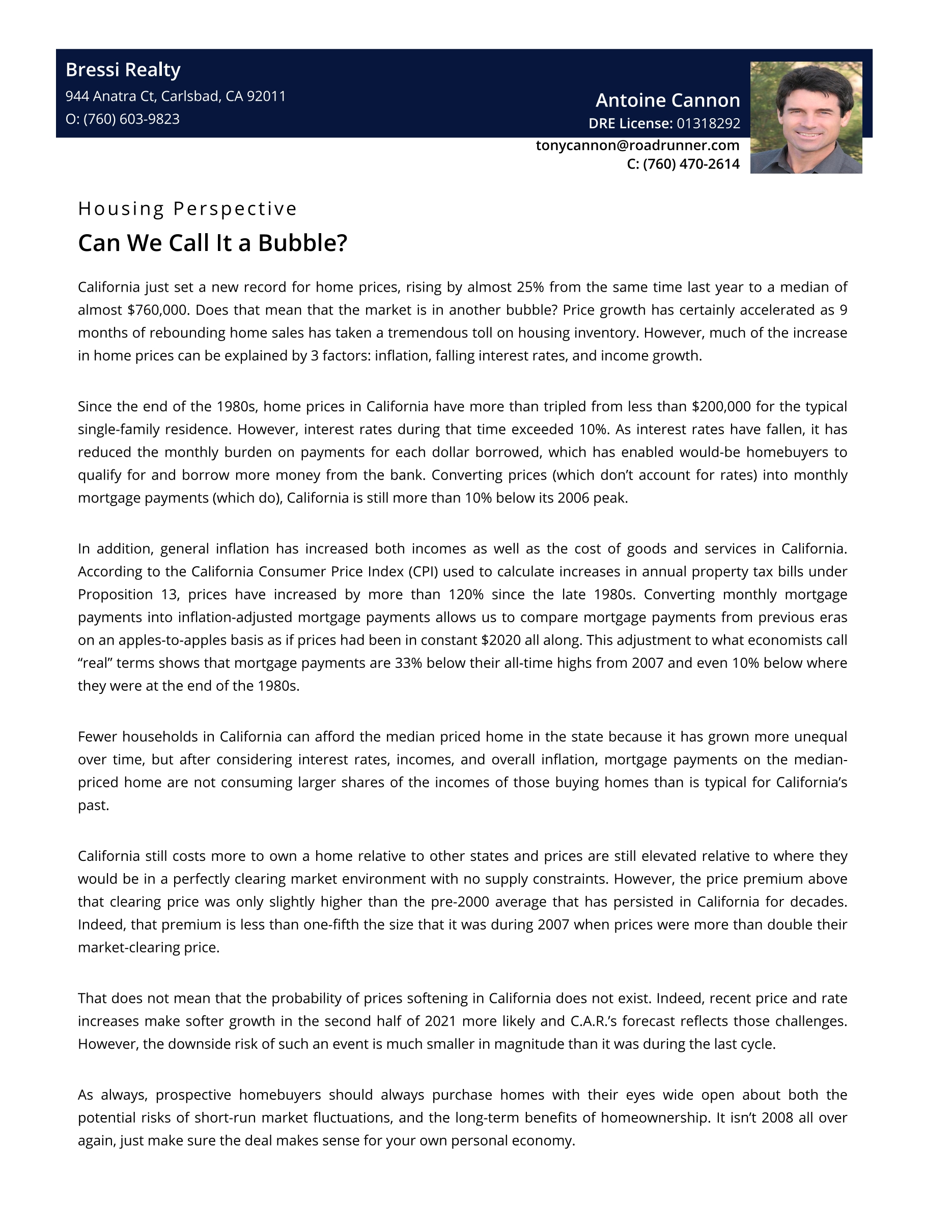 Housing Bubble Analysis 2021