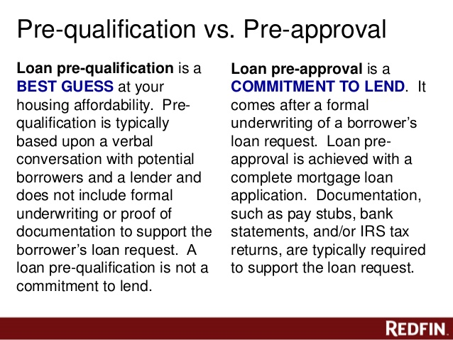 PreQualification Versus PreApproval Letters