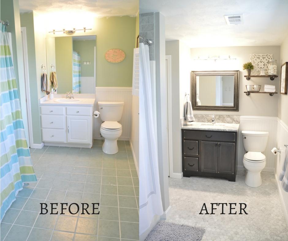 Bathroom Makeover Project Lisa Walker Homes - Makeover my bathroom