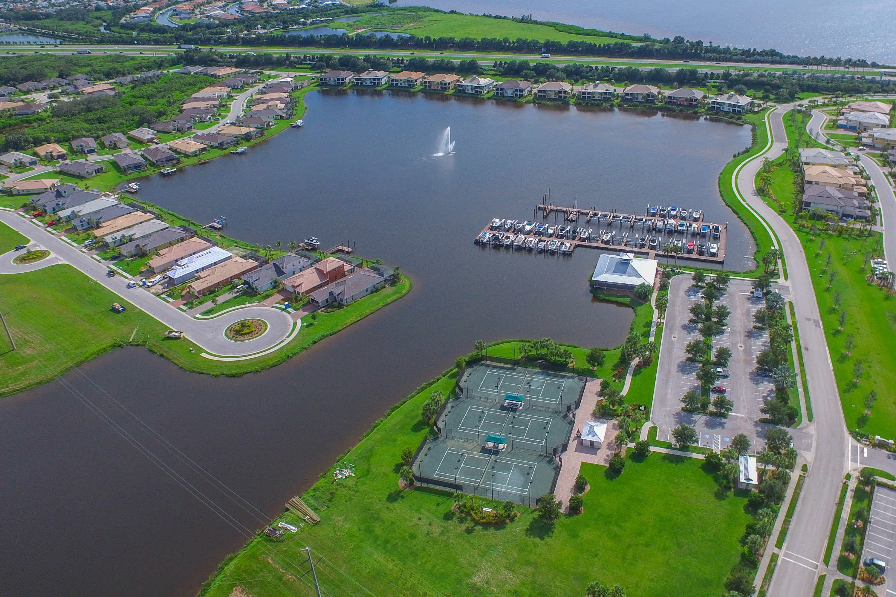 Aerial of Waterfront Complex