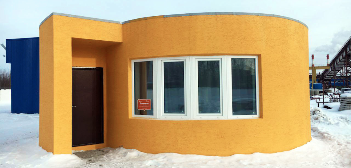 3-D printed home