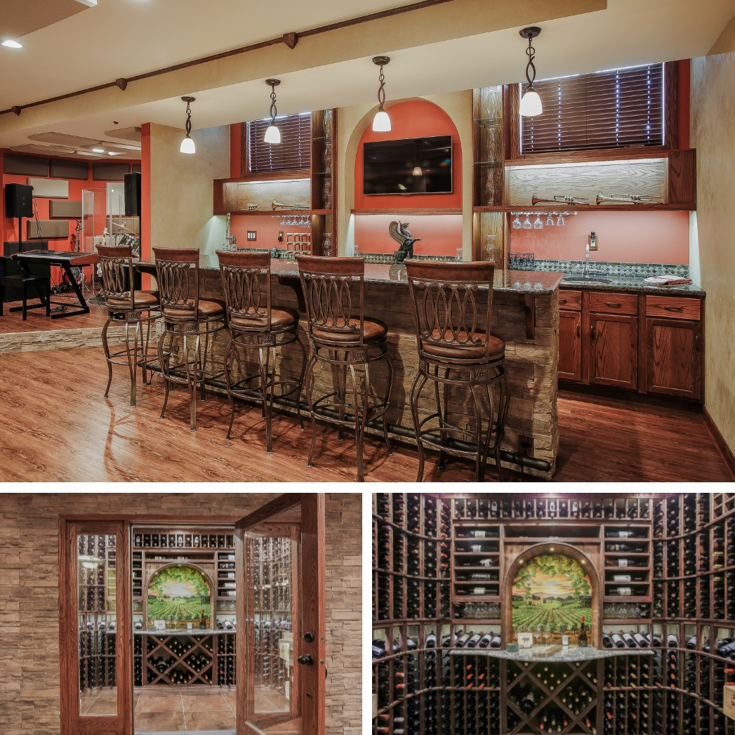1640 Raleigh Court Wine Cellar and Bar