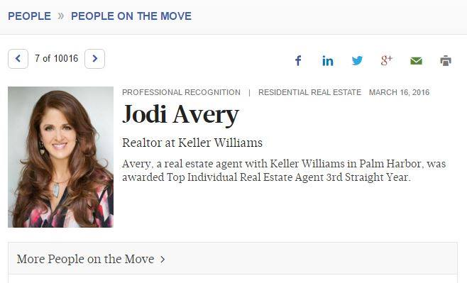 Tampa Bay Business Journal - PEOPLE ON THE MOVE!