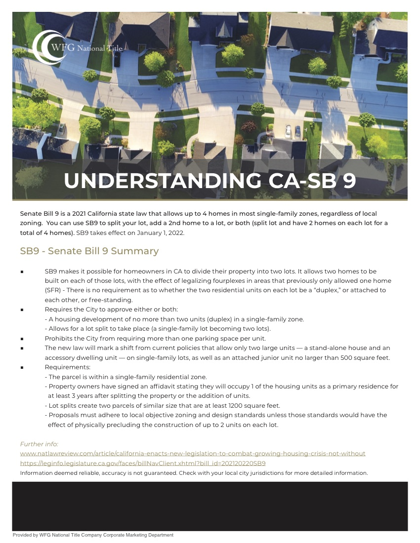 SB 9 – Will This Help Housing?