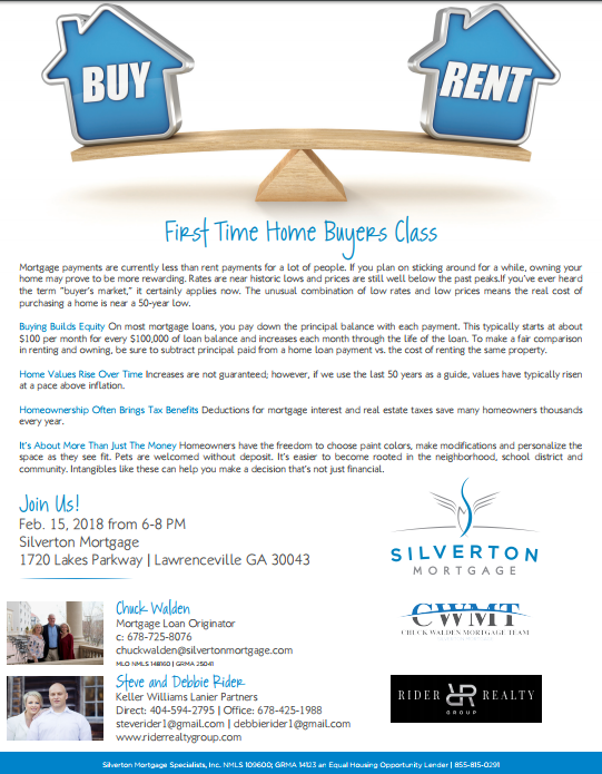 Gwinnett County First Time Homebuyers Seminar