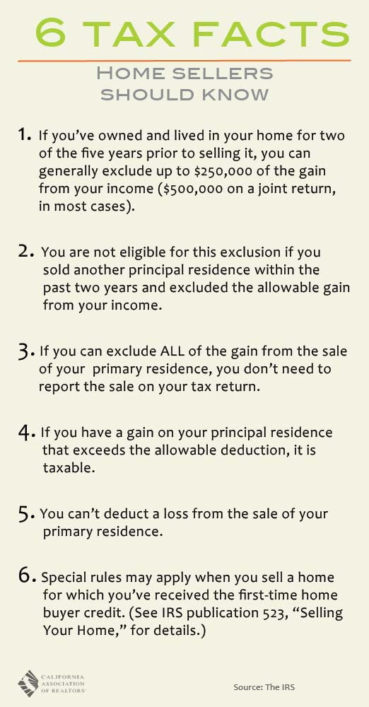 6 Tax Facts Home Sellers Should Know