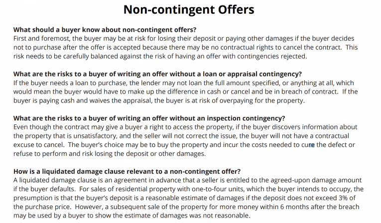 What Buyers & Sellers Need To Know About Non-Contingent Offers