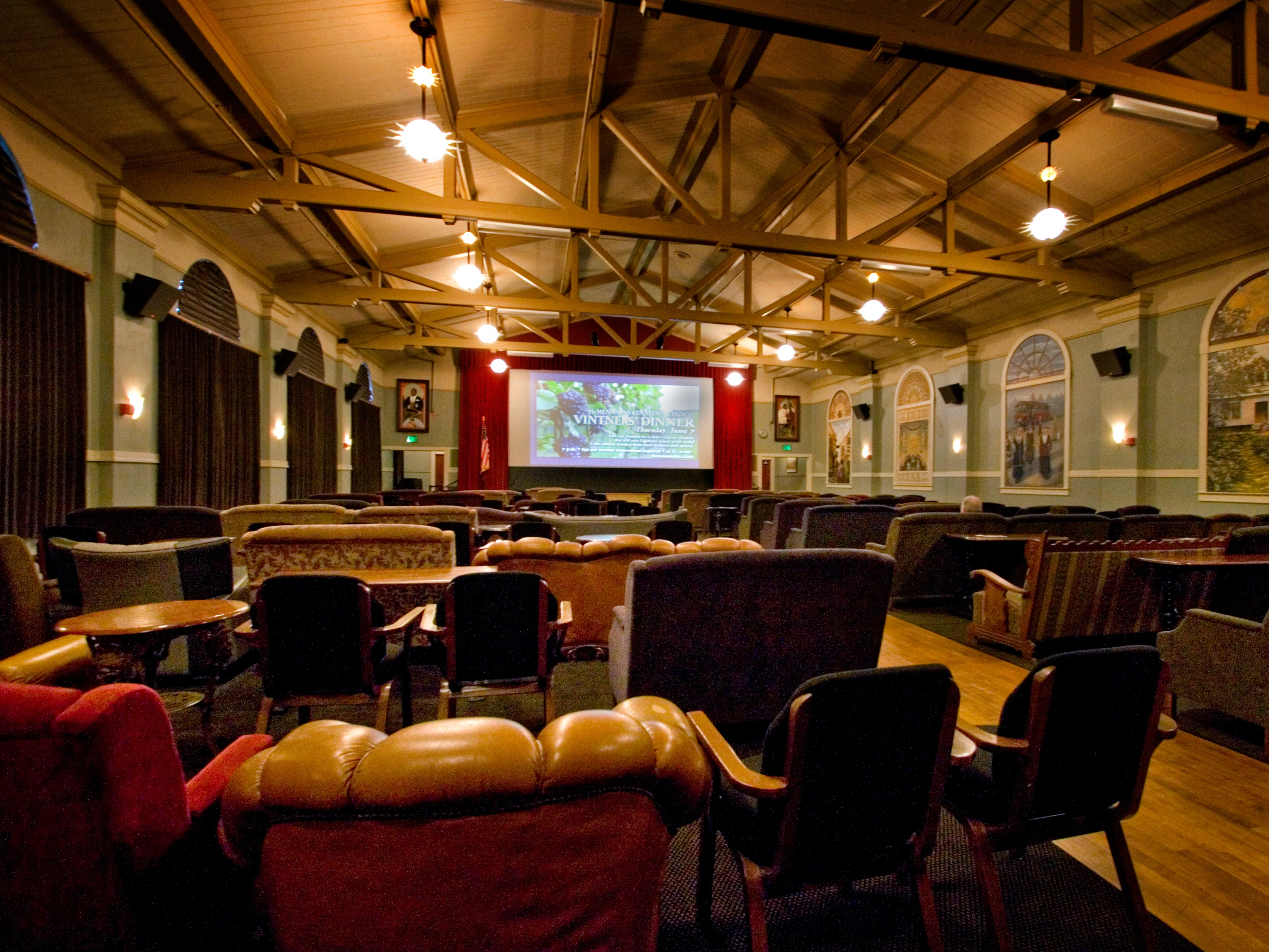 ... Relaxed Movie Theater, Where The Seats Are Vintage Arm Chairs And  Sofas. What Was Once A Space Used For School Assemblies Now Lives On As  Venue For ...