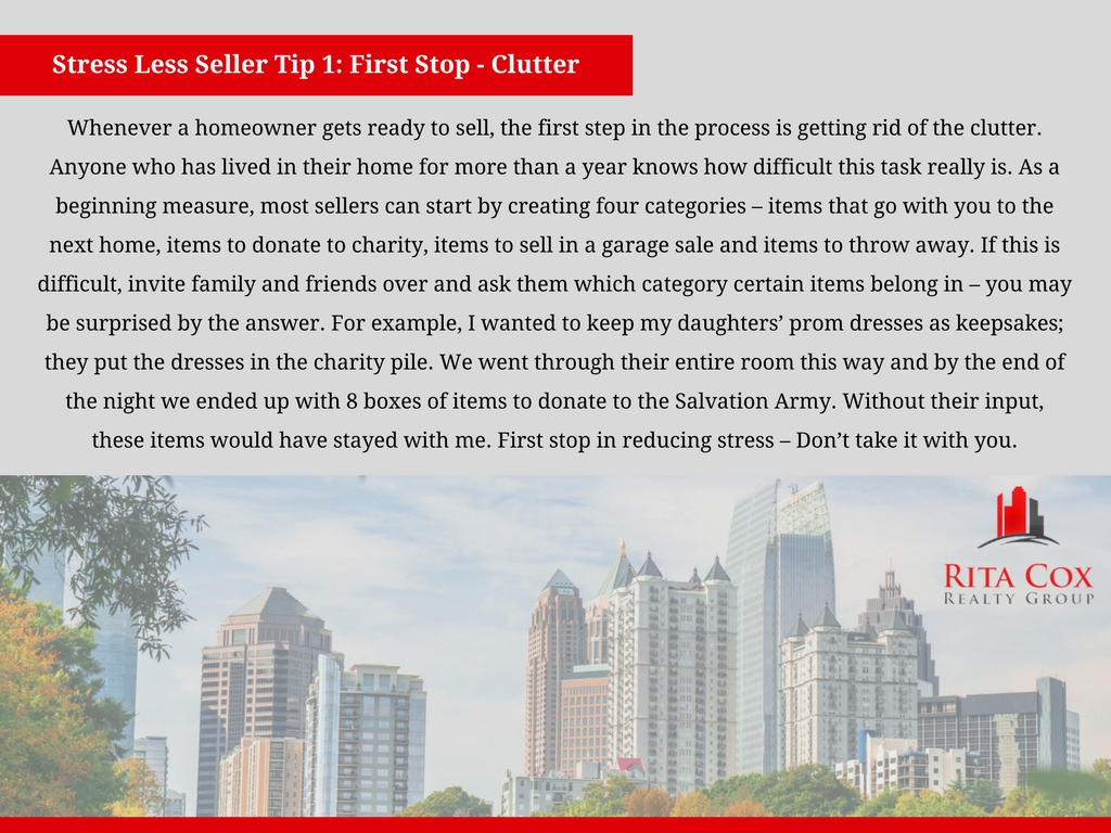 Stress Less! Seller Tips