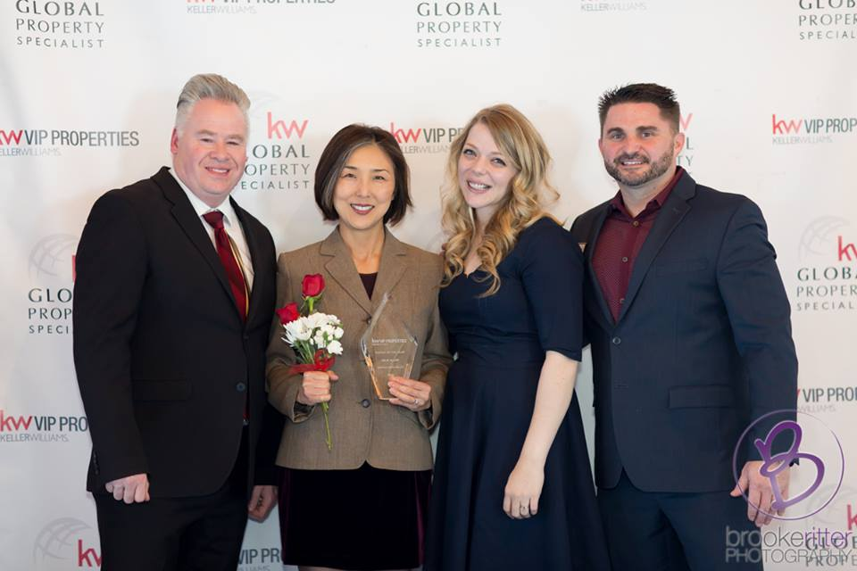 Realtor Jule Cha Allen with Operating Principals and Manager of Keller Williams VIP Properties