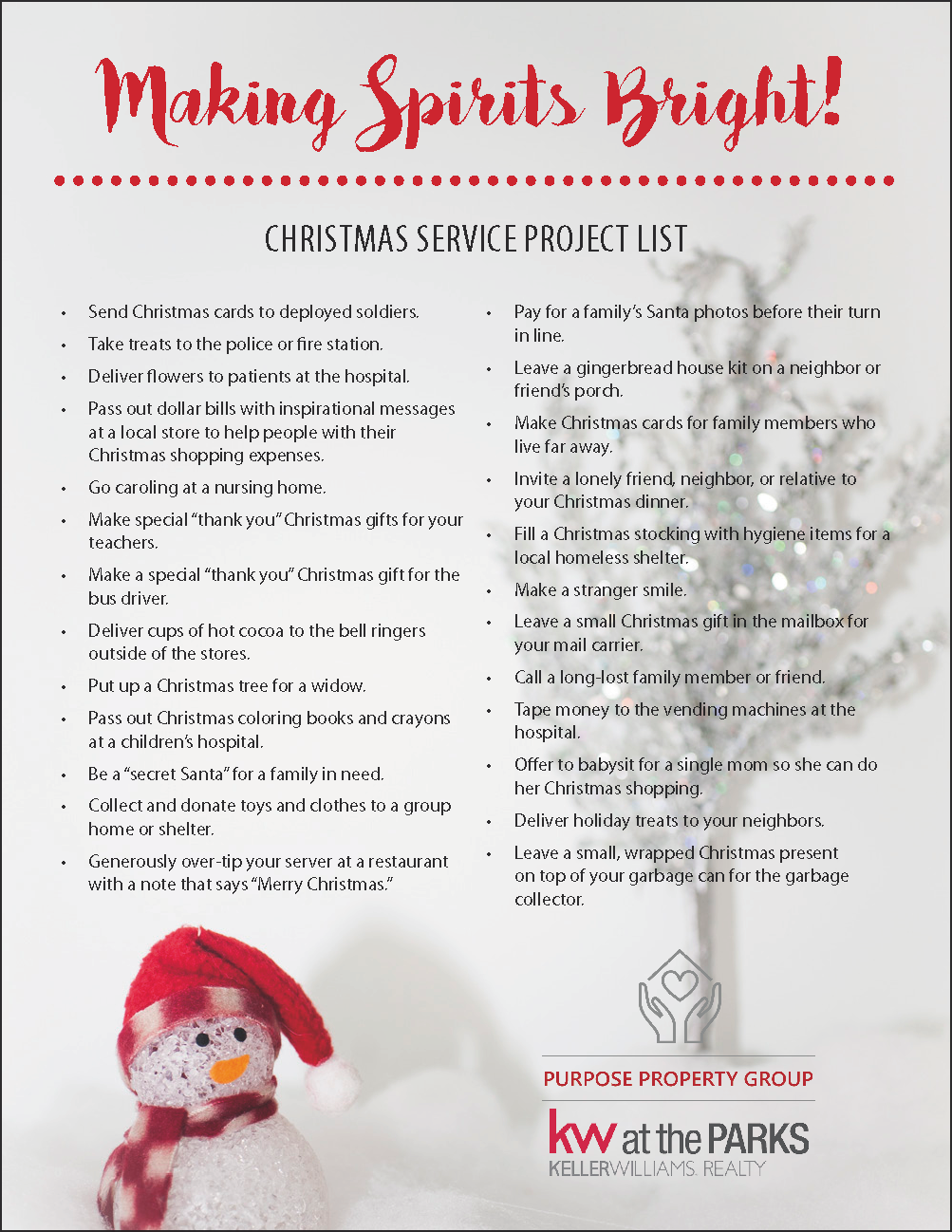 holiday service project ideas for the whole family