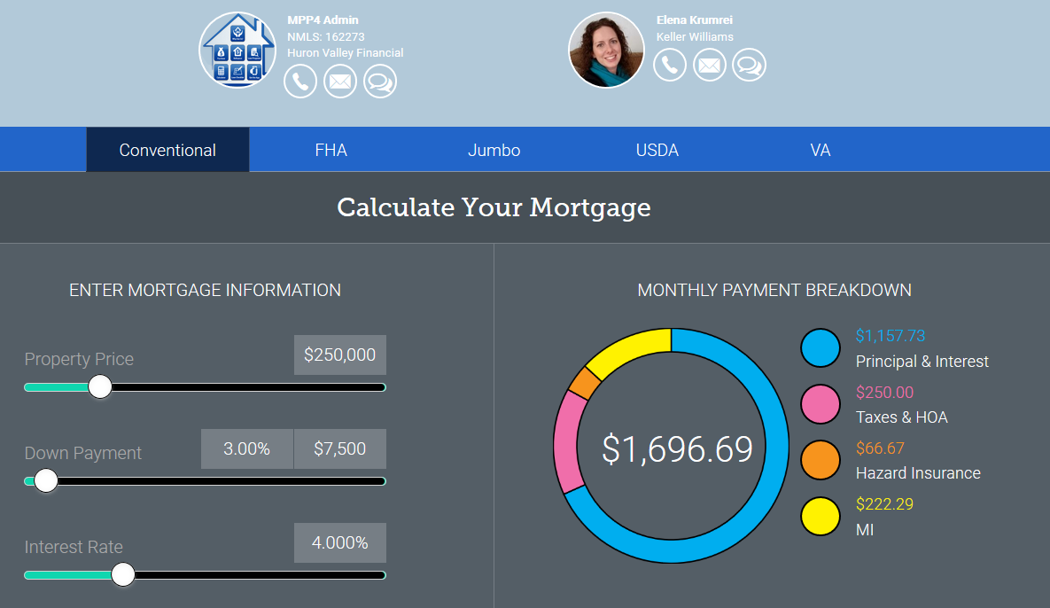 conventional mortgage calculator