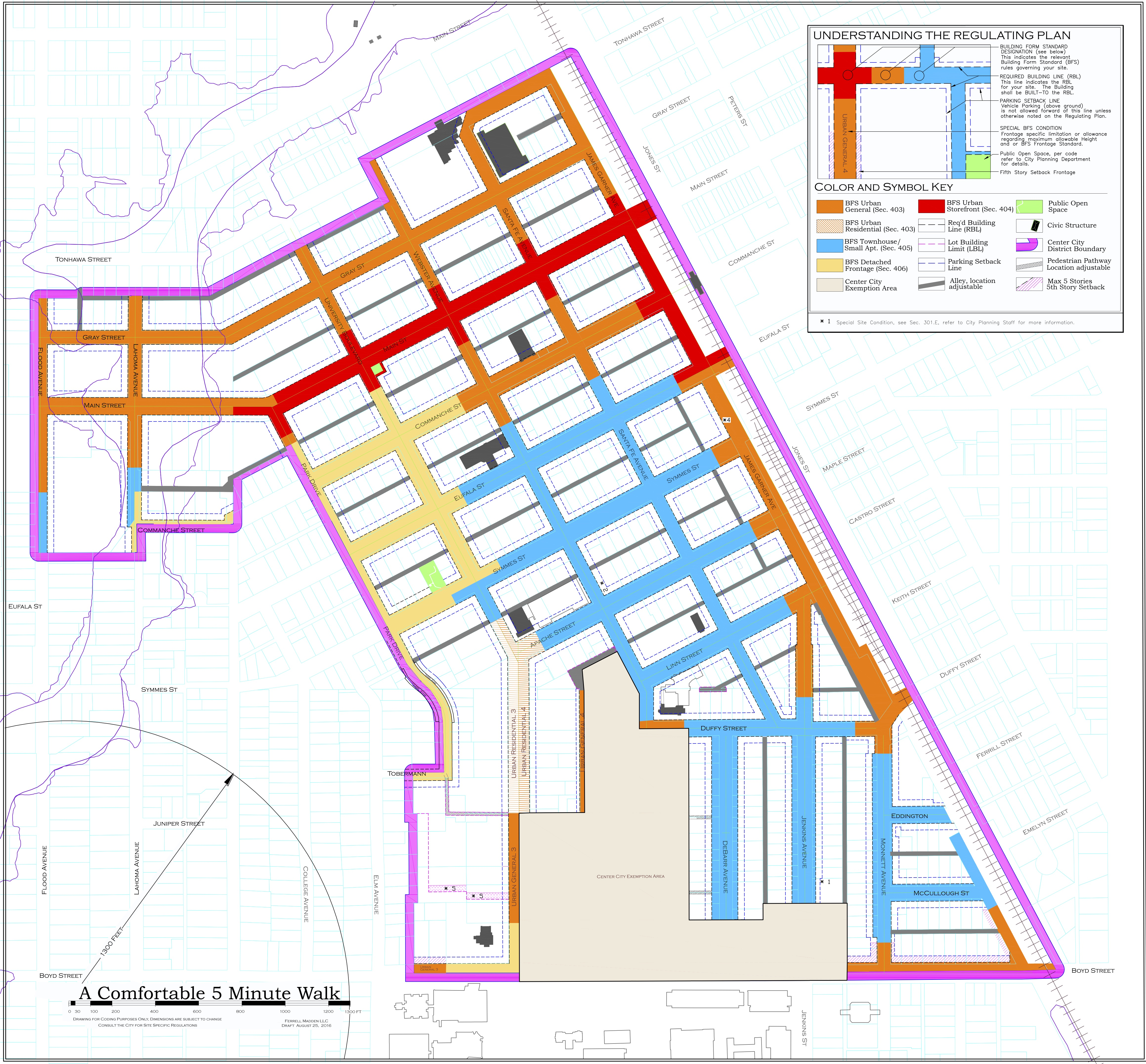 The City Center Vision Plan Map