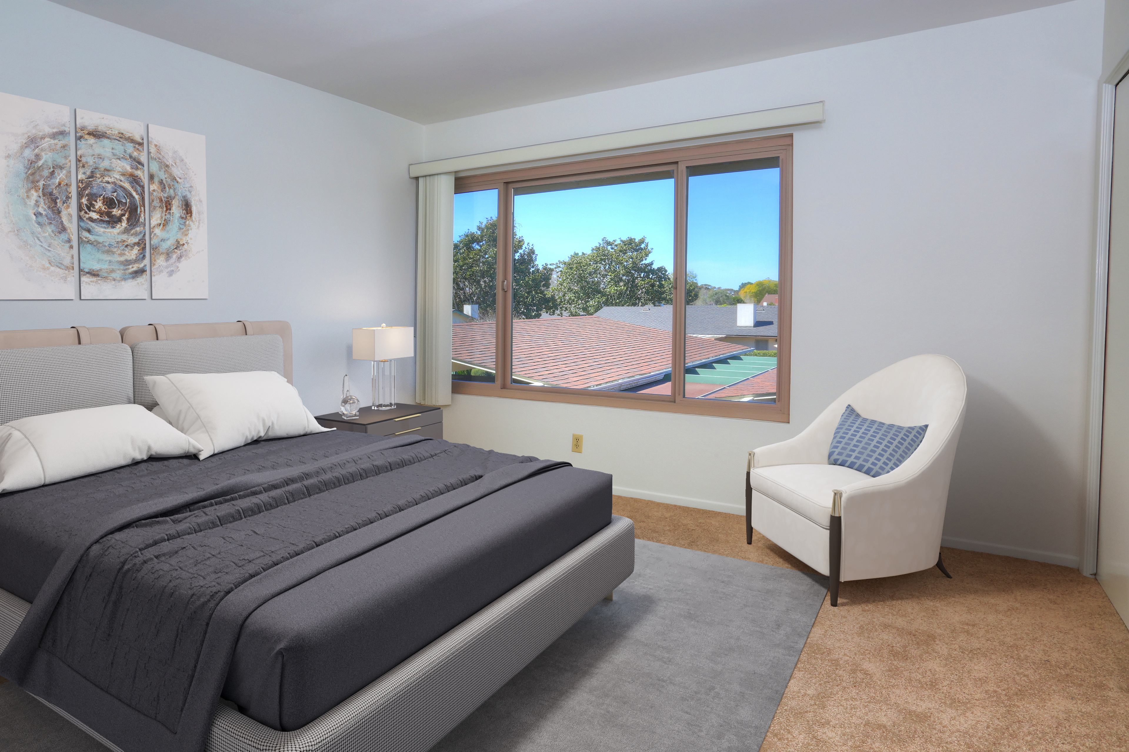Guest Bedroom with Virtual Staging