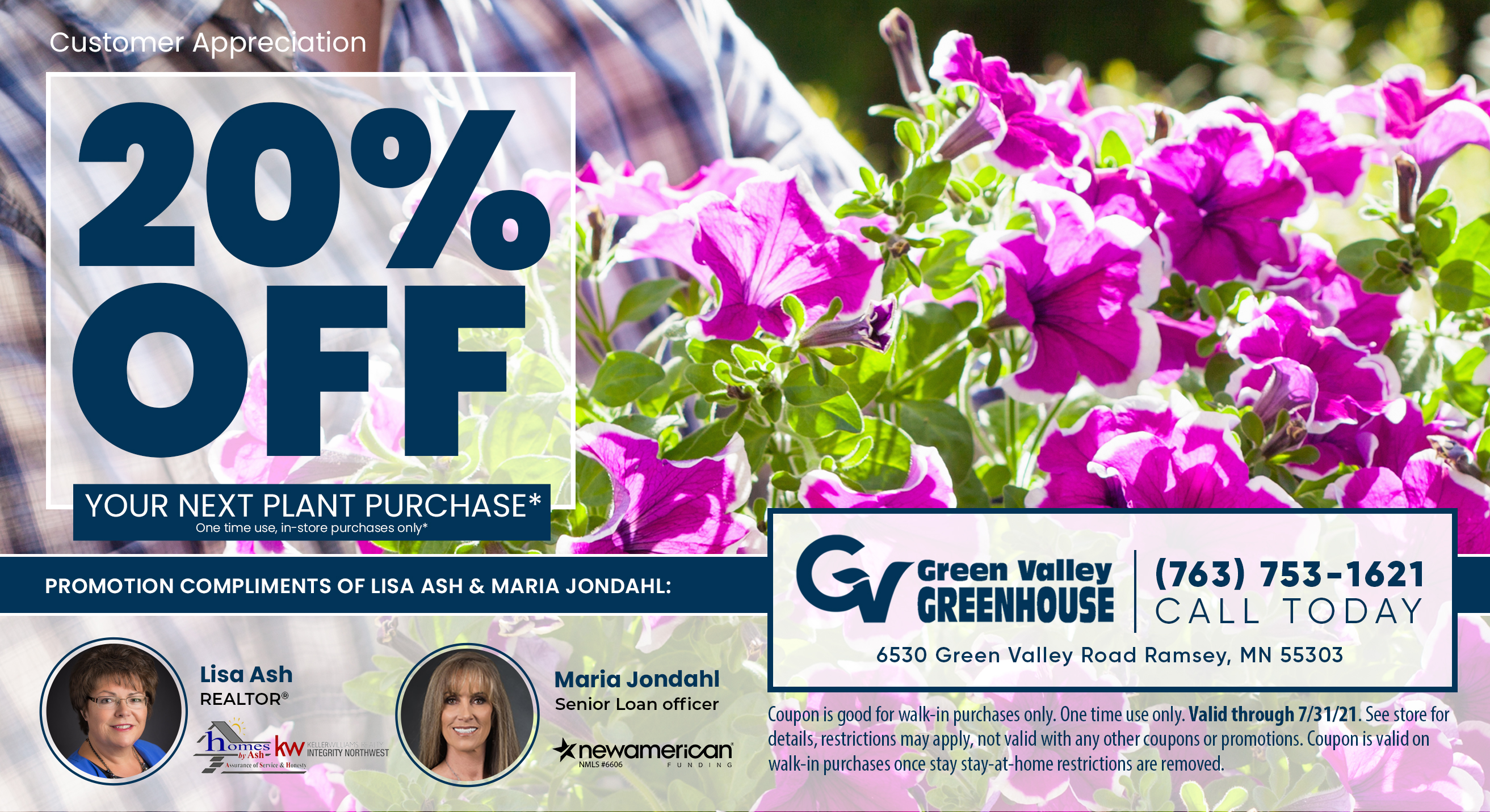 Green Valley Greenhouse Promotion 2021