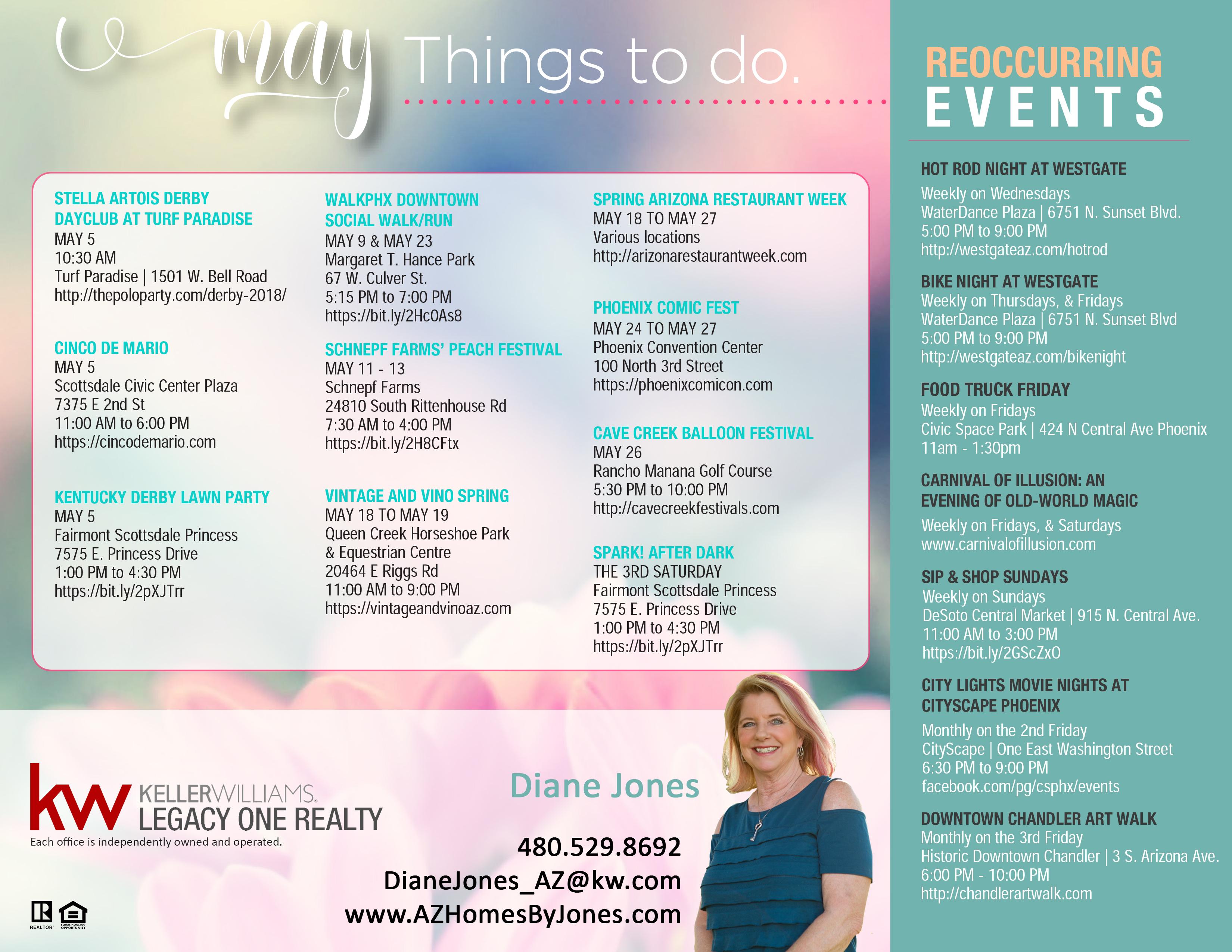 Things to do in May around Phoenix Arizona