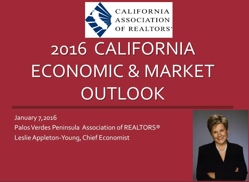 2016 Economic Forecast - C.A.R. Chief Economist Leslie Appleton-Young