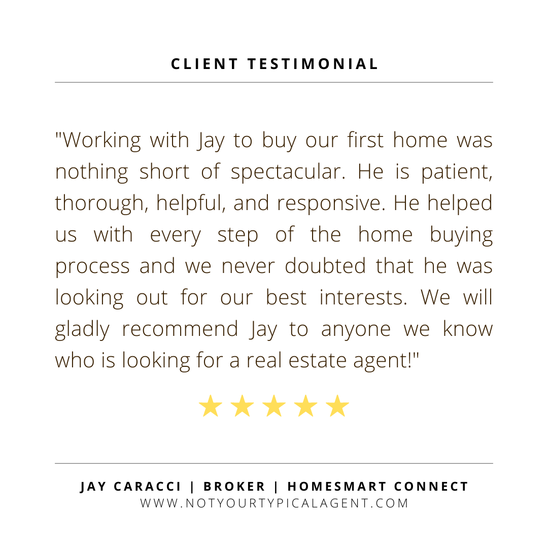 Working with Jay to buy our first home was nothing short of spectacular