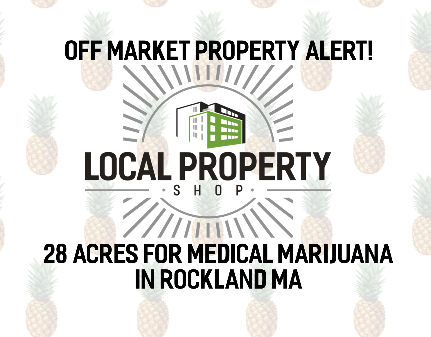 Off Market Land: 28 Acres Permitted for Medical Marijuana Use in Rockland MA