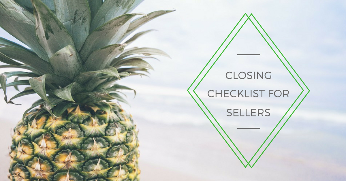 Closing Checklist For Sellers