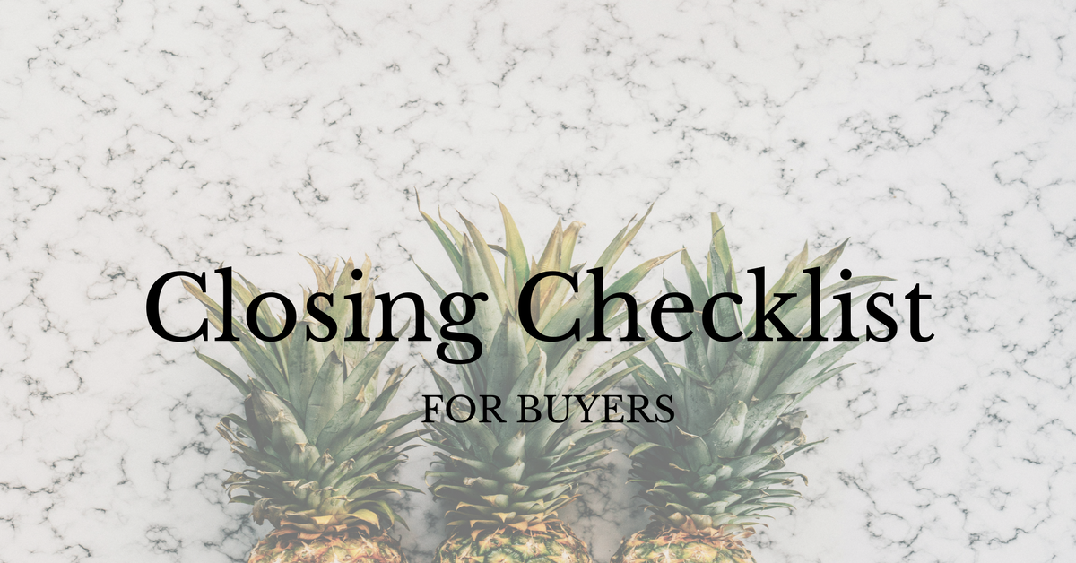 Closing Checklist for Buyers