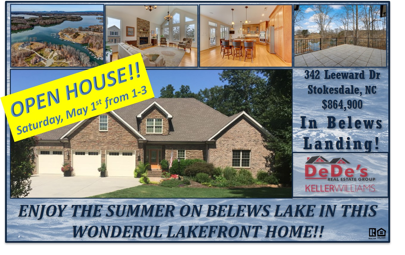 OPEN HOUSE – Saturday, May 1st from 1:00-3:00!