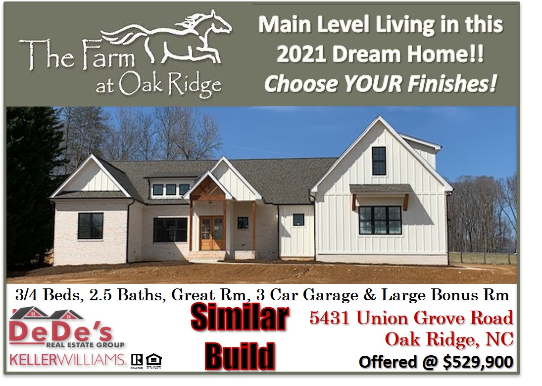 NEW Construction in The Farm at Oak Ridge!! Check it out today!