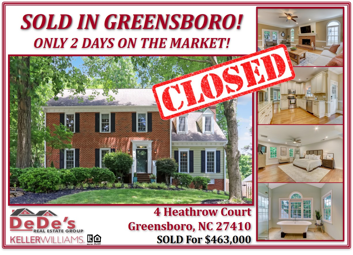 SOLD ABOVE ASKING PRICE IN TWO DAYS!!