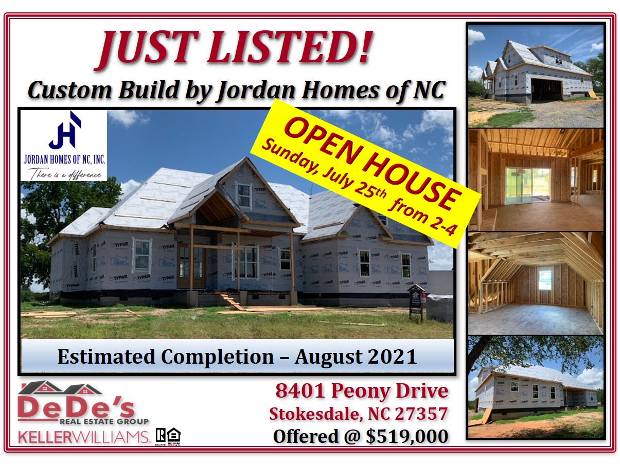 OPEN HOUSE – SUNDAY, JULY 25TH FROM 2:00-4:00