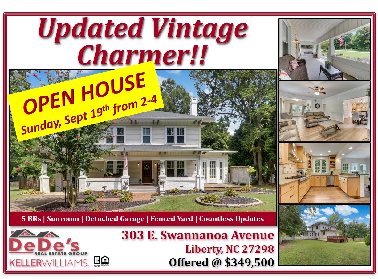 OPEN HOUSE – SUNDAY, SEPTEMBER 19TH FROM 2:00 to 4:00