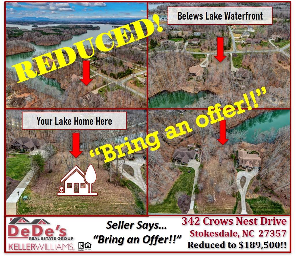 Lakefront Lots are getting harder & harder to find…