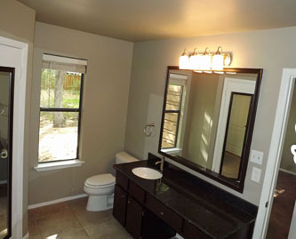 The Master Bath Contains Two 2 Walk In Closets Brand New Granite Counters Sink And Brushed Nickel Faucet Lighting Fixtures Carpet