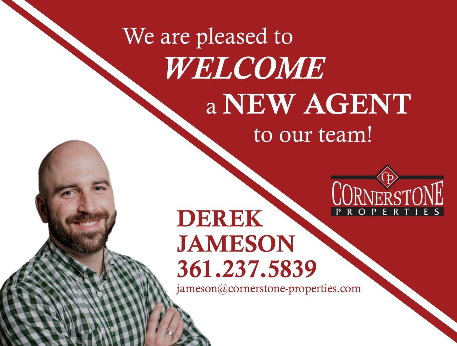 Welcome Derek to the Cornerstone Team!