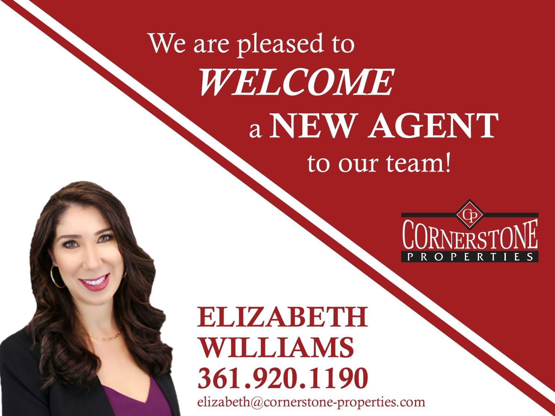 Welcome Elizabeth to the Cornerstone Team!