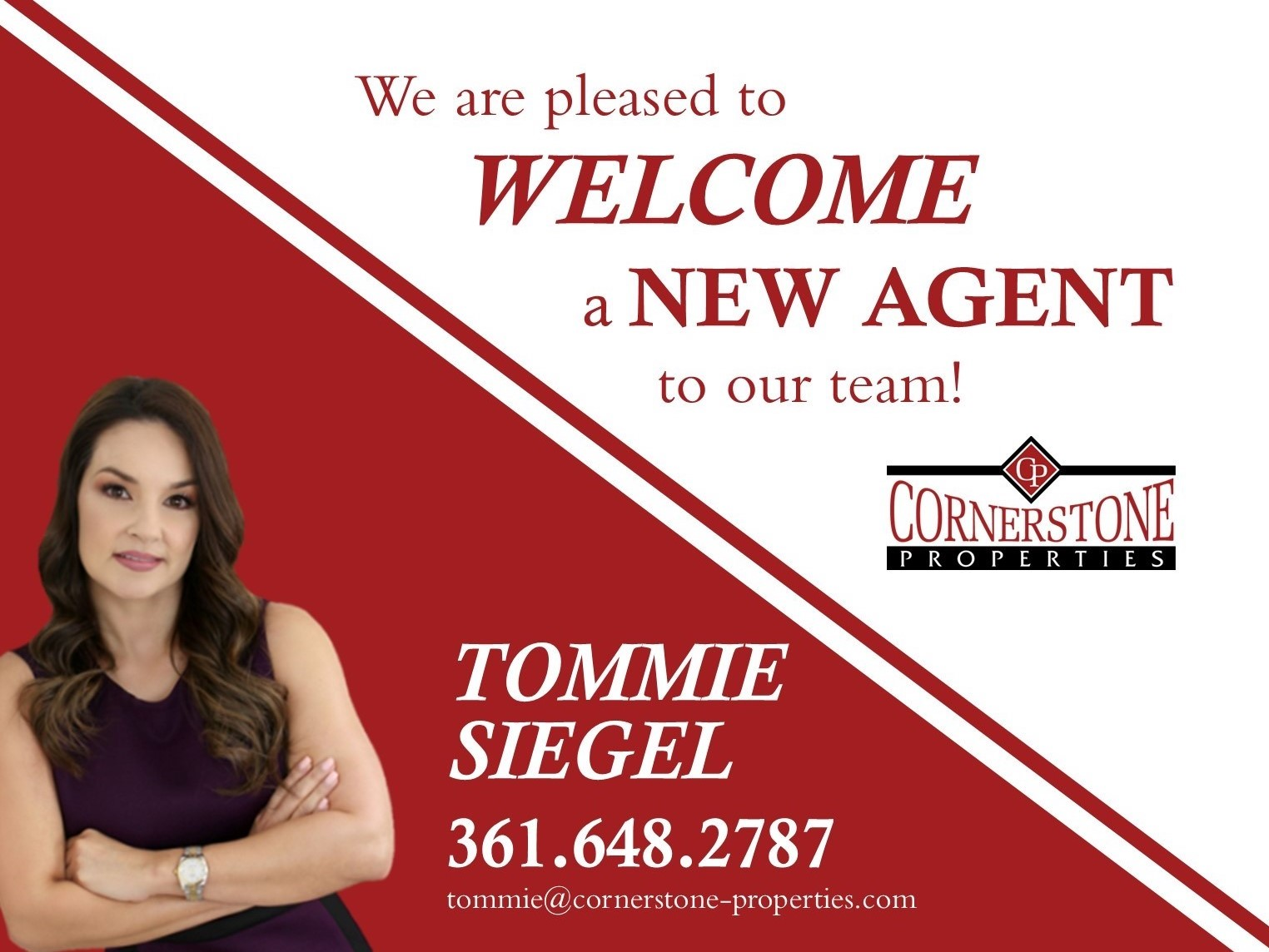 Welcome Tommie to the Cornerstone Team!