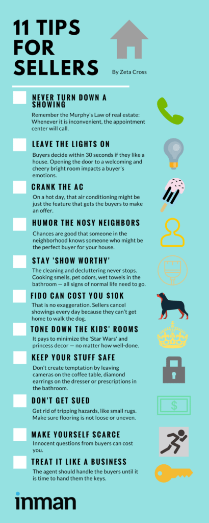 Tips for home sellers infographic