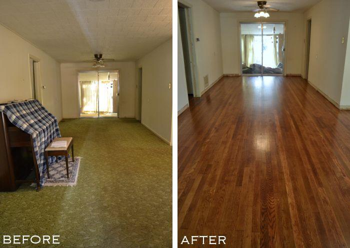 hardwood flooring from carpet, beth sterner