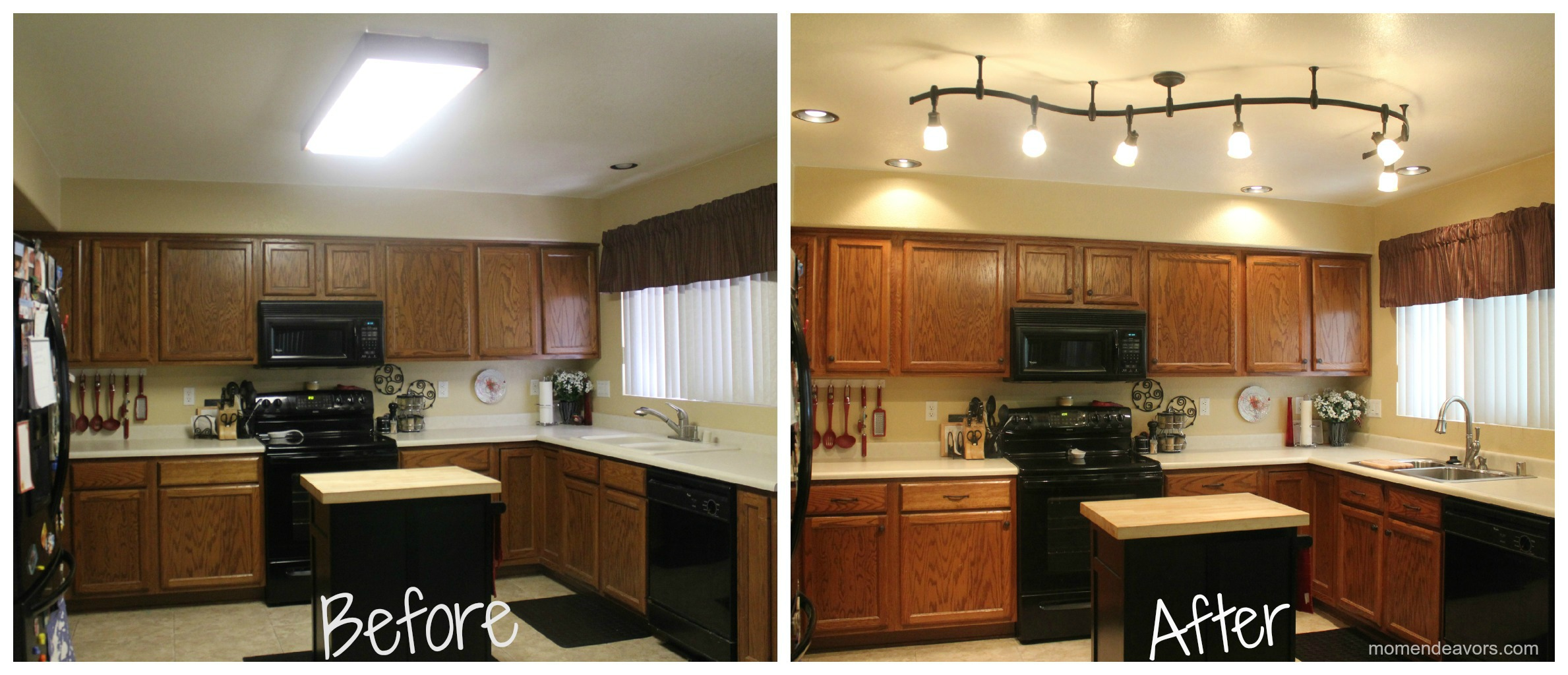 lighting upgrade before and after, beth sterner