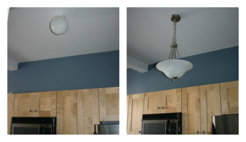 light fixture before and after, beth sterner