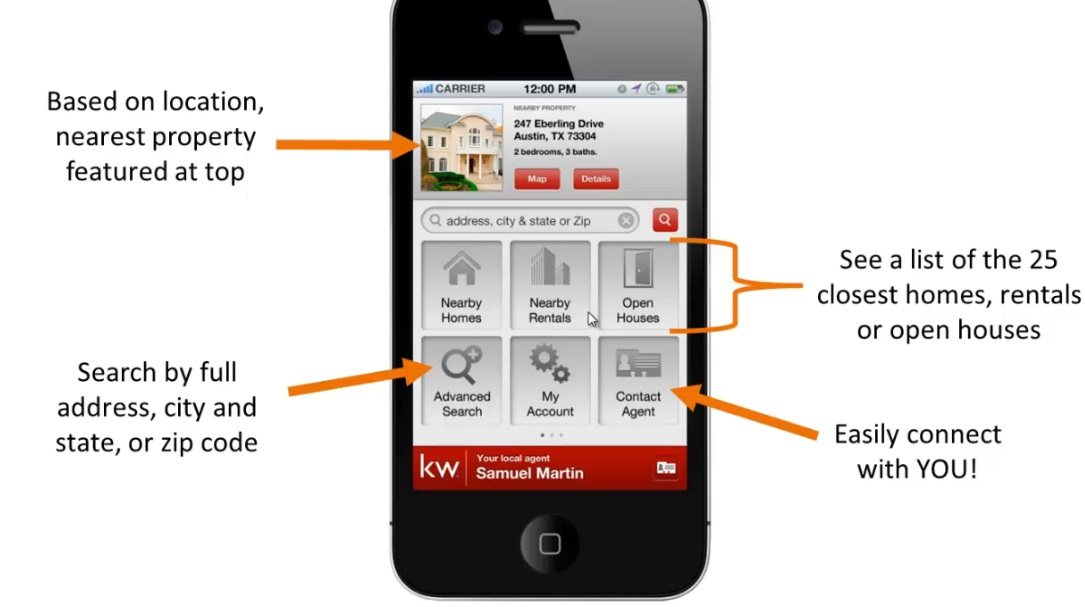 kw real estate app - iOS or Android Versions available