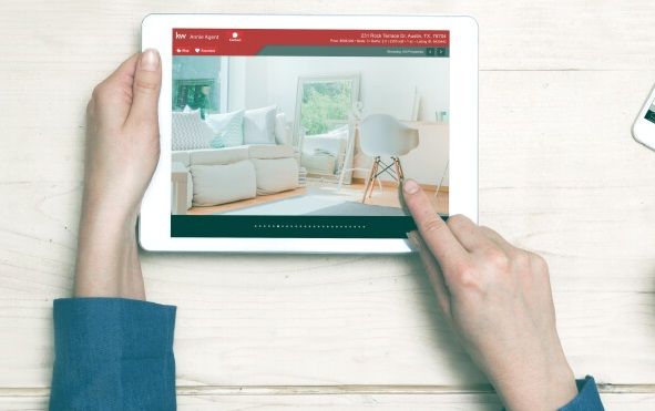 ipad version of kw mobile real estate app