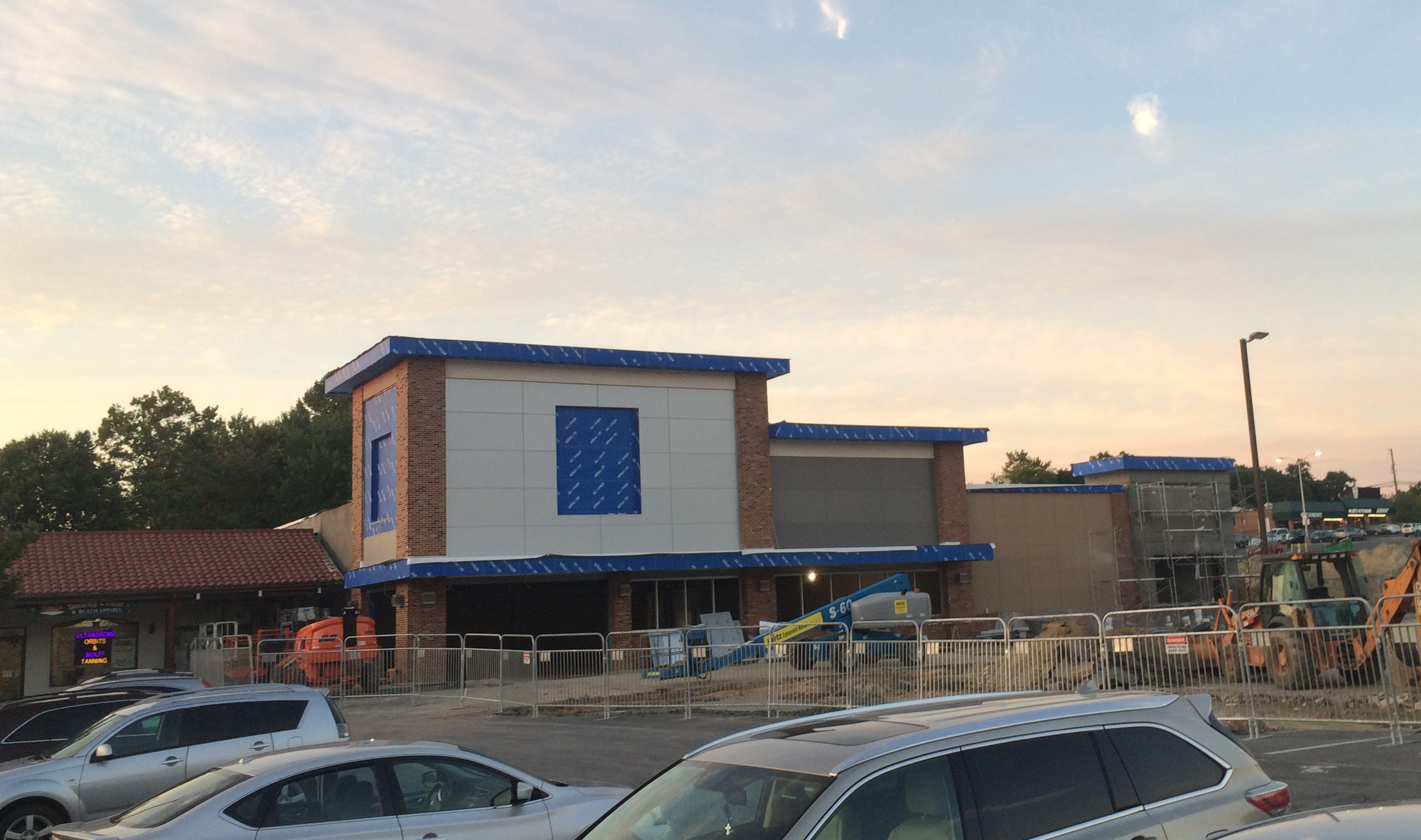 The New Aldi Grocery Store Under Construction