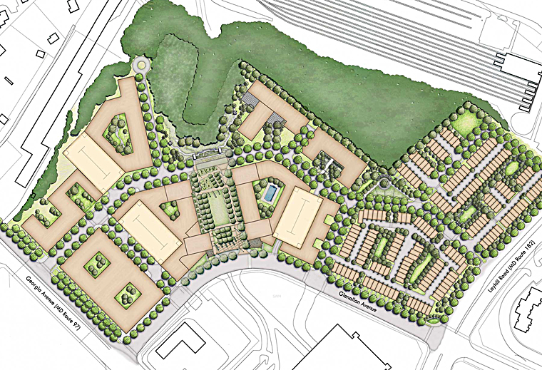 Overview Rendering of the new Glenmont MetroCentre in Silver Spring