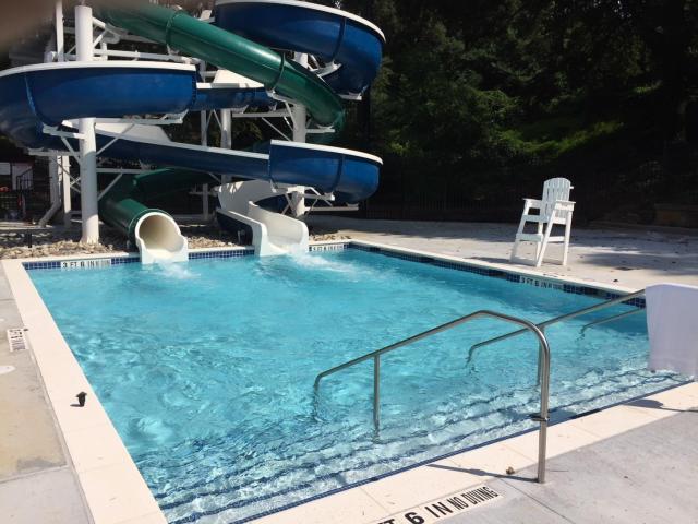 Holding Park Aquatic Center water slides