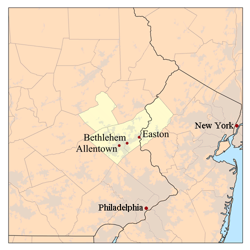 Lehigh Valley Zip Code Map.Home Searches By Zip Codes In The Lehigh Valley Provided By The