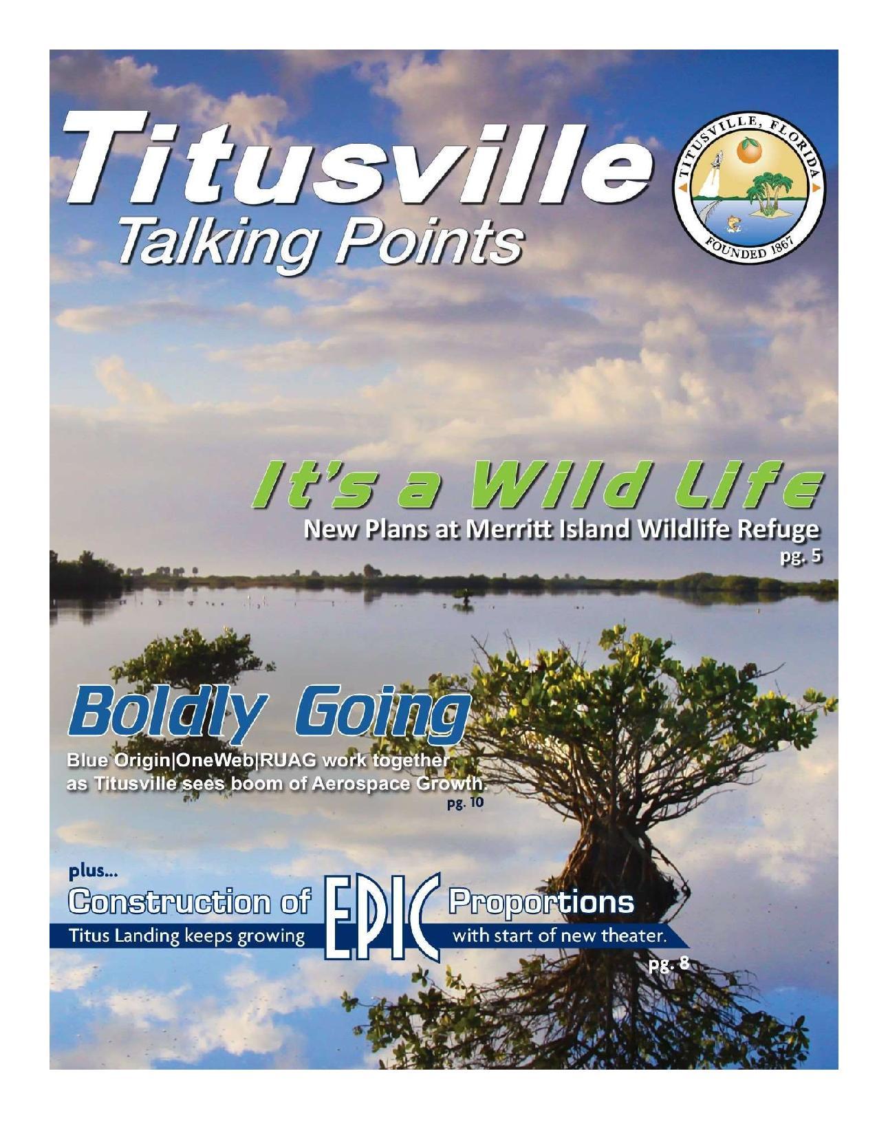2017 Update on Titusville Happenings