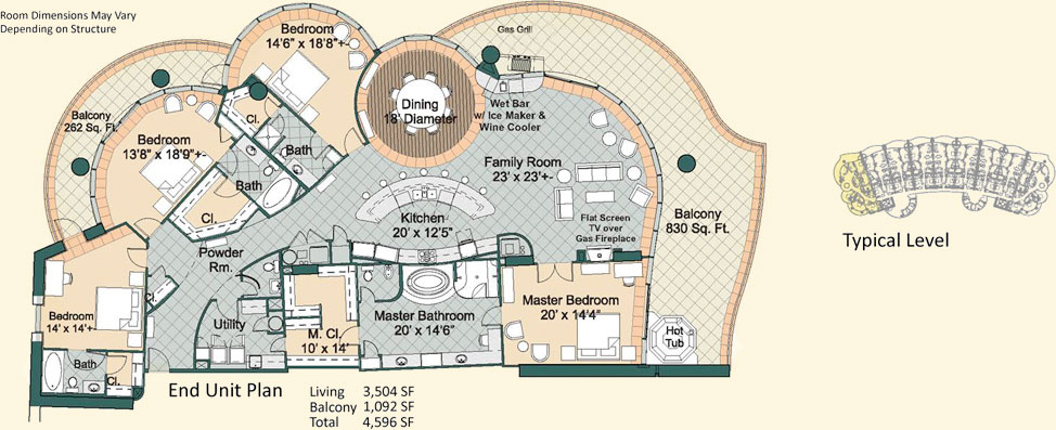 Turquoise Place Floor Plans