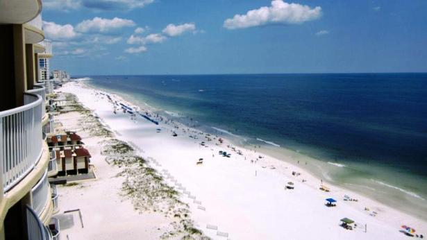 Beach balcony view - Gulf Shores