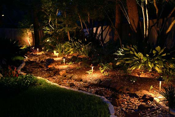 Light up landscaping